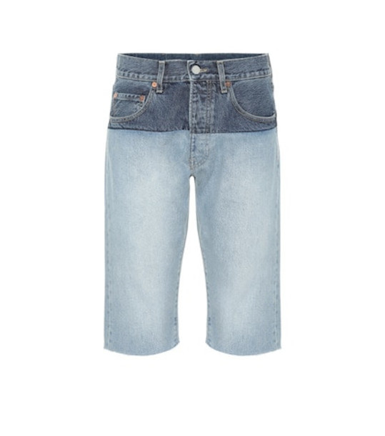 Vetements Denim shorts in blue