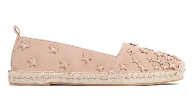shoes blush pink espadrilles zara stars studded shoes
