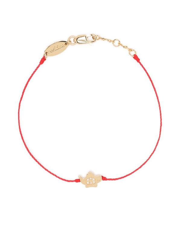 Redline 18kt yellow gold diamond teapot bracelet
