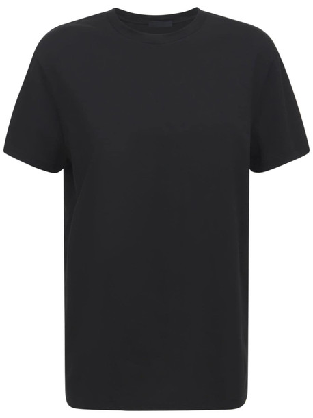 WARDROBE.NYC Classic Cotton Jersey T-shirt in black