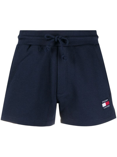 Tommy Jeans drawstring cotton shorts in blue