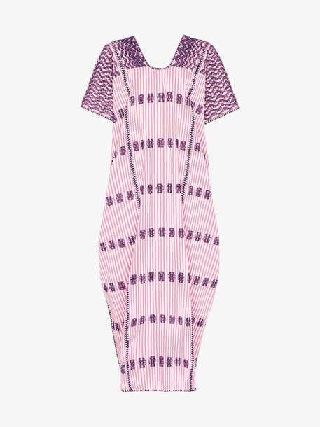 Pippa Holt maxi kaftan cotton dress in purple