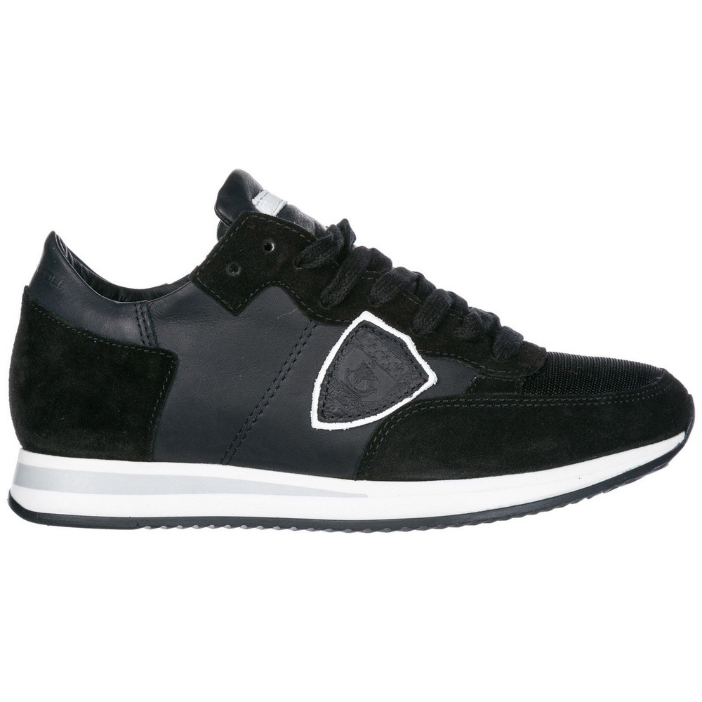 Philippe Model Shoes Suede Trainers Sneakers Tropez in nero