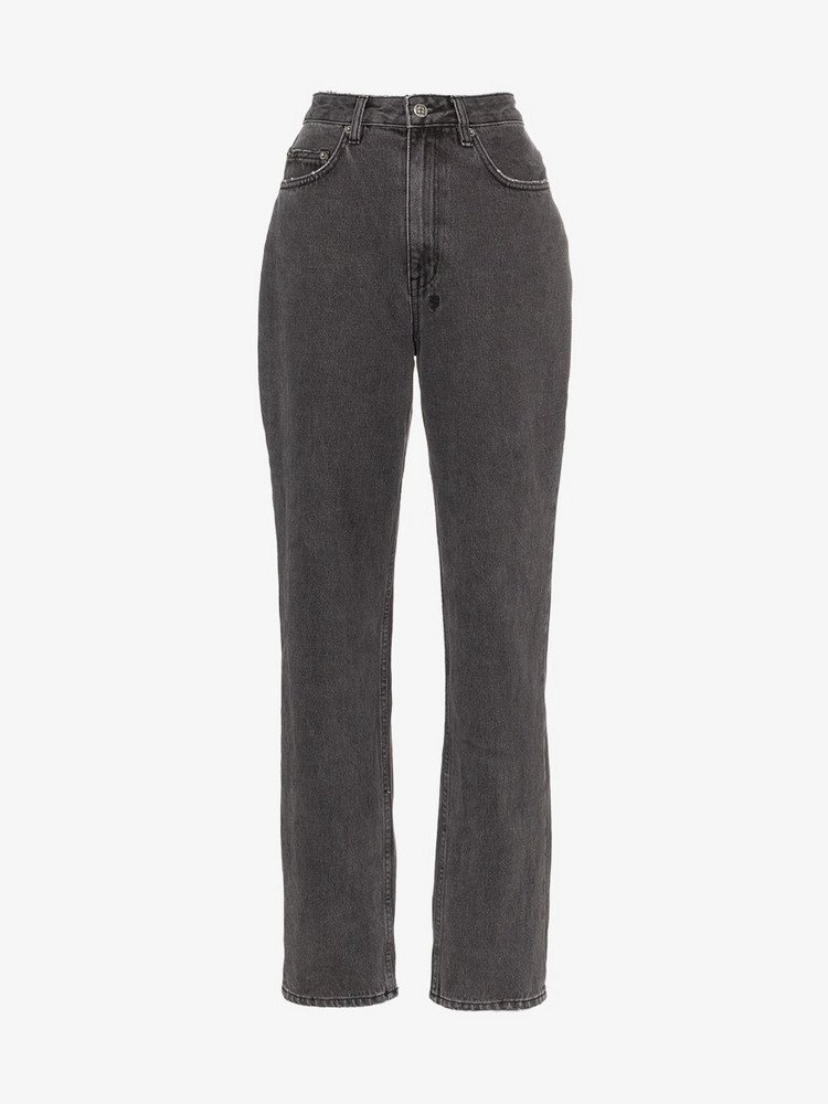 Ksubi High-Rise Straight Leg Playback Jeans in grey