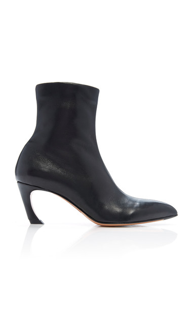 Acne Studios Bilbo Leather Ankle Boots in black