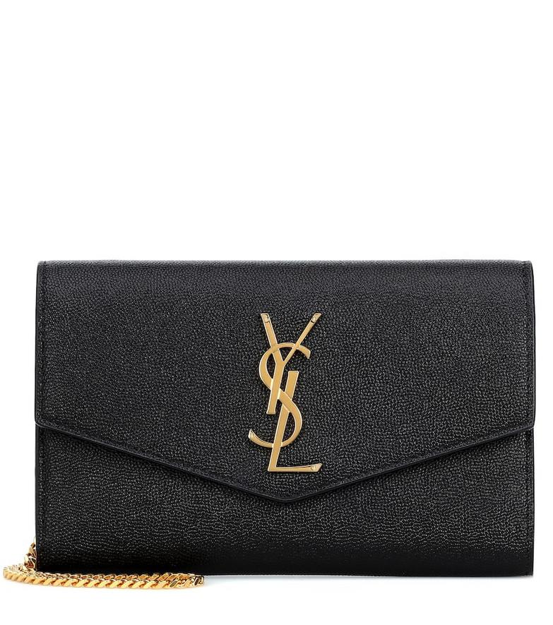 Saint Laurent Uptown leather crossbody bag in black