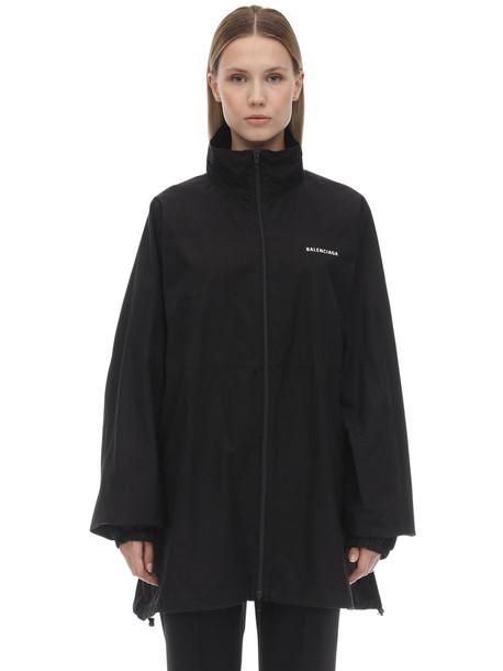 BALENCIAGA Cotton Zip-up Jacket in black