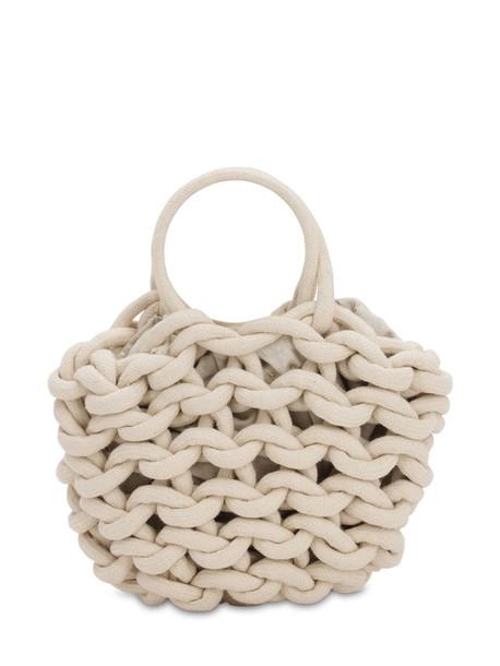 ALIENINA Julia Rope Bucket Cotton Top Handle Bag in natural
