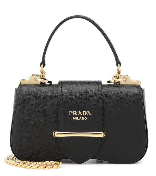 Prada Sidonie leather shoulder bag in black