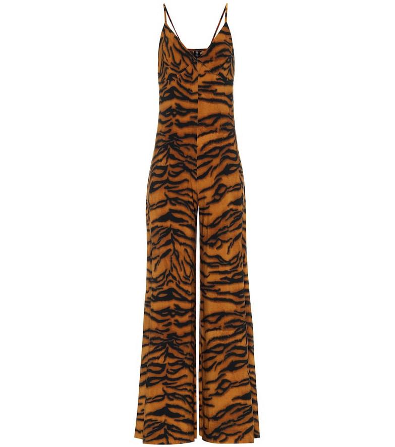 Norma Kamali Exclusive to Mytheresa – Tiger-print jumpsuit in orange