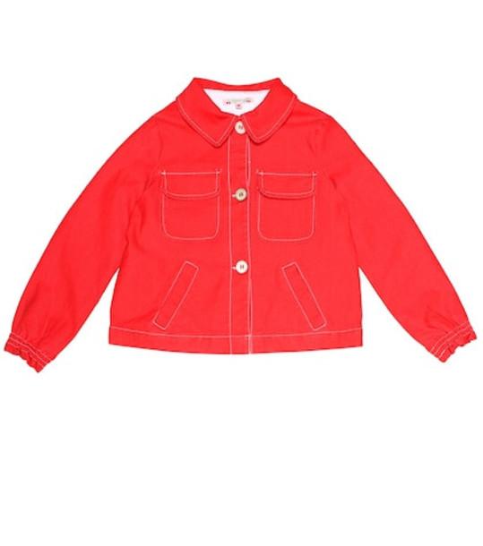 Bonpoint Lexie denim jacket in red