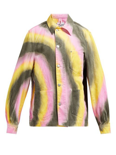 Ganni - Tie Dye Denim Jacket - Womens - Multi