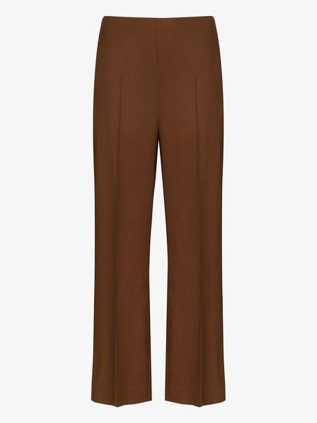 LVIR wide leg trousers in brown