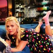 dress,polka dots,colorful,busy philipps,celebrity,spring dress,instagram