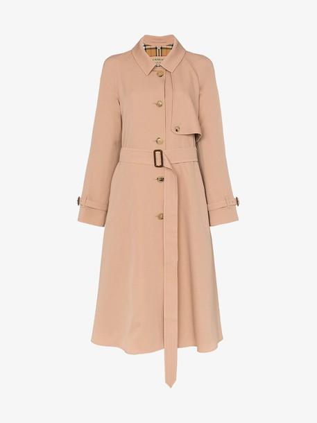 Burberry Wool Gabardine Trench Coat in brown
