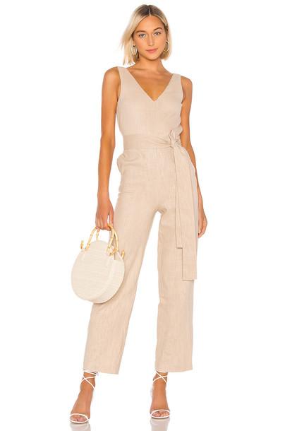 LPA Alina Jumpsuit in beige