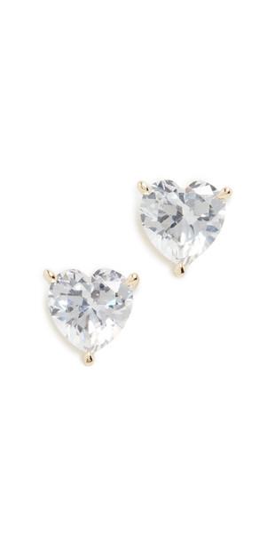 Adina's Jewels Heart Stone Stud Earrings
