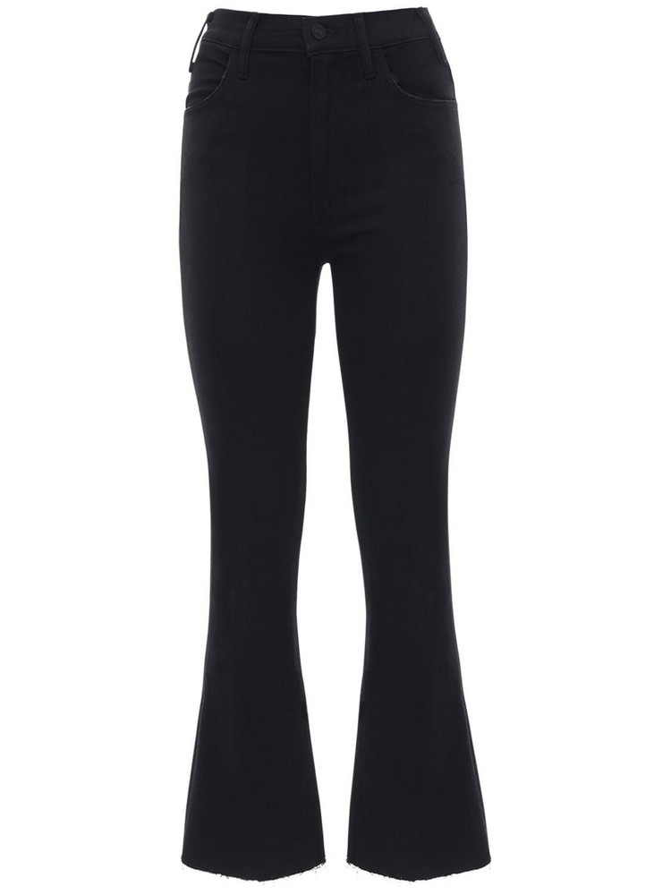 MOTHER The Hustler Distressed Stretch Jeans in black