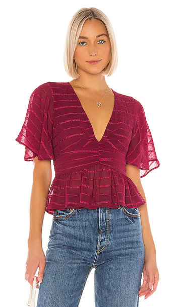 House of Harlow 1960 X REVOLVE Lucina Top in Wine