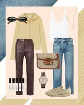 shoes,jeans,sunglasses,pants