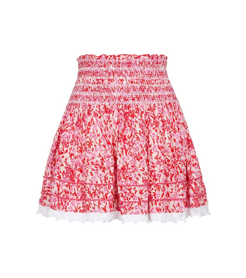 Poupette St Barth Exclusive to Mytheresa – Galia floral miniskirt in pink