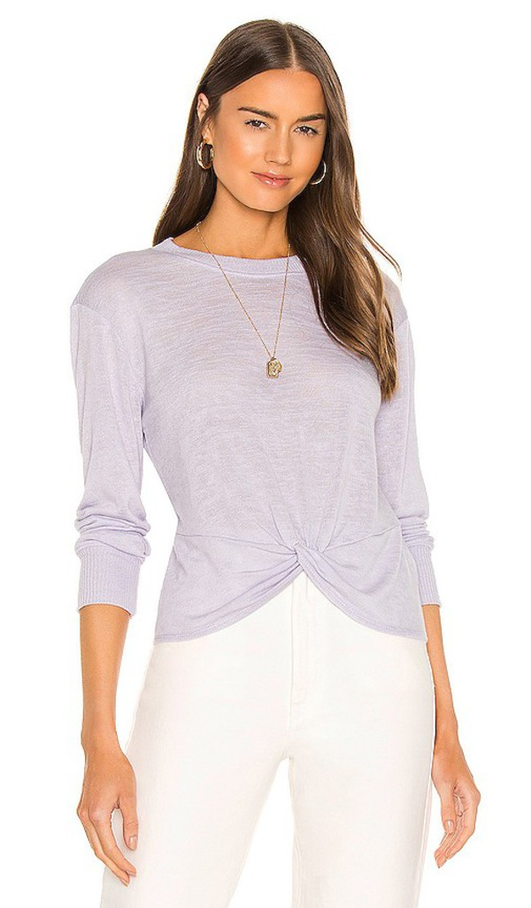 Sanctuary Knotted Tee in Lavender in purple