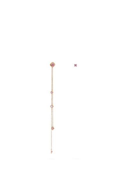 Diane Kordas - Mismatched Sapphire & 18kt Rose Gold Earrings - Womens - Pink