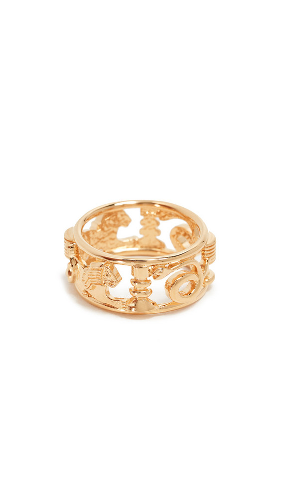 Lucy Folk Le Memphis Ring in gold / yellow