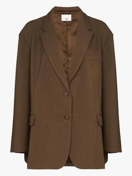 Frankie Shop Bea loose-fit blazer in brown