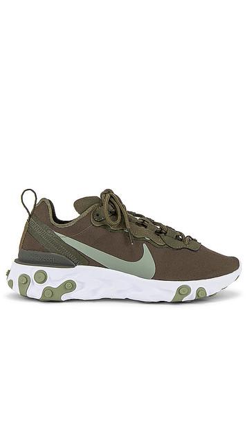 Nike React Element 55 Sneaker in Green