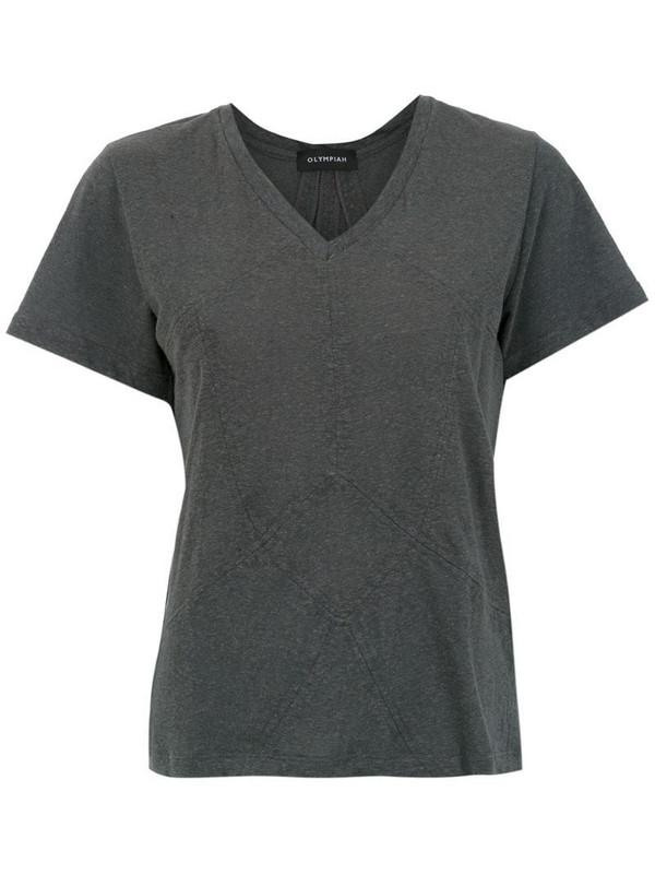Olympiah panelled Malta t-shirt in grey