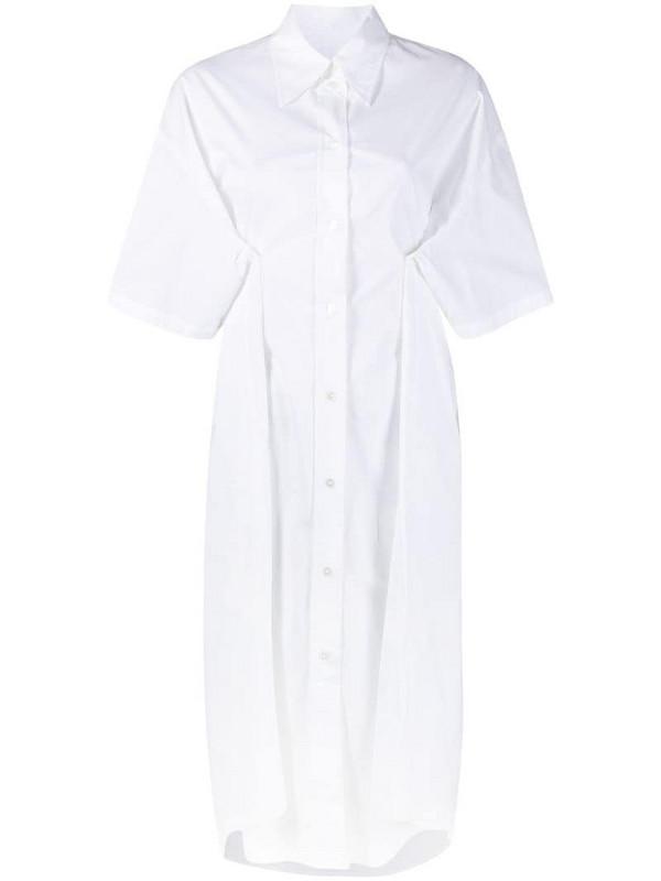 MM6 Maison Margiela midi shirt dress in white
