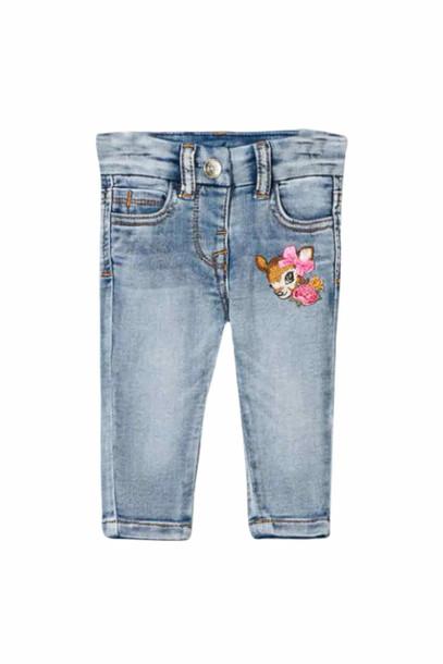 Monnalisa Bambi Embroidery Jeans