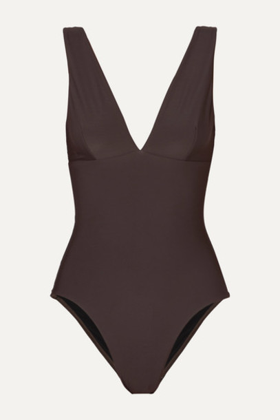 BONDI BORN - Veronica Swimsuit - Brown