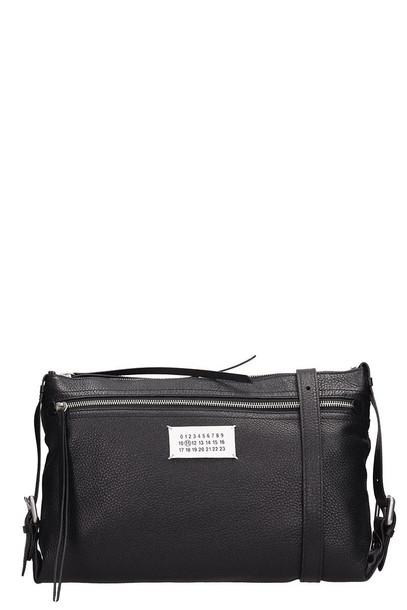 Maison Margiela Black Leather Clutch Bag