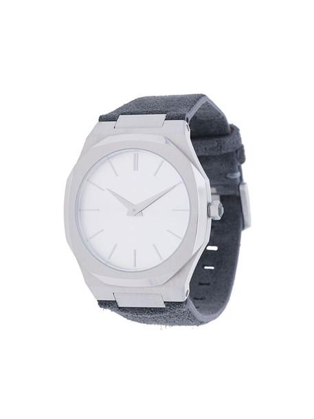 D1 Milano Ultrathin watch in silver