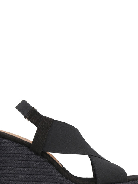 Castañer Federica Wedges With Crossed Bands in black