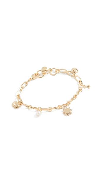 Gorjana Seashell Charm Bracelet in gold