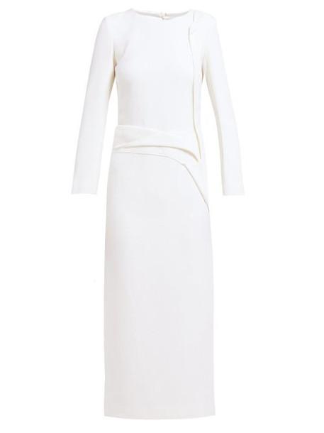 Carl Kapp - Nectar Folded Panel Wool Midi Dress - Womens - White