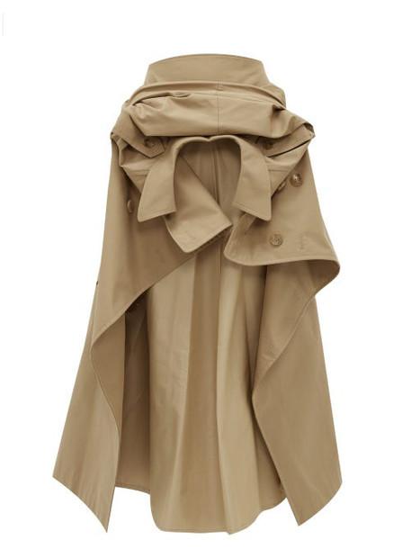 Junya Watanabe - Deconstructed Cotton-blend Gabardine Skirt - Womens - Beige