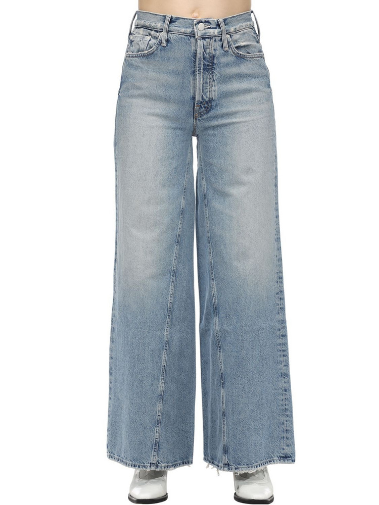 MOTHER The Enchanter Flared Cotton Denim Jeans in blue