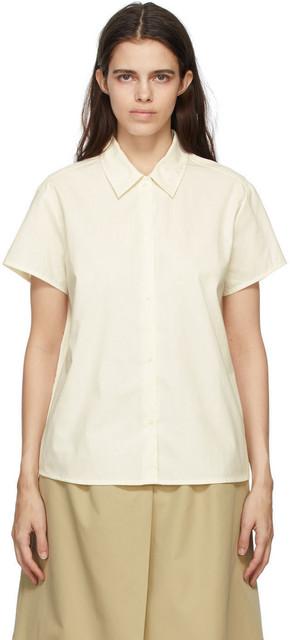 A.P.C. A.P.C. Off-White Marina Short Sleeve Shirt in ecru