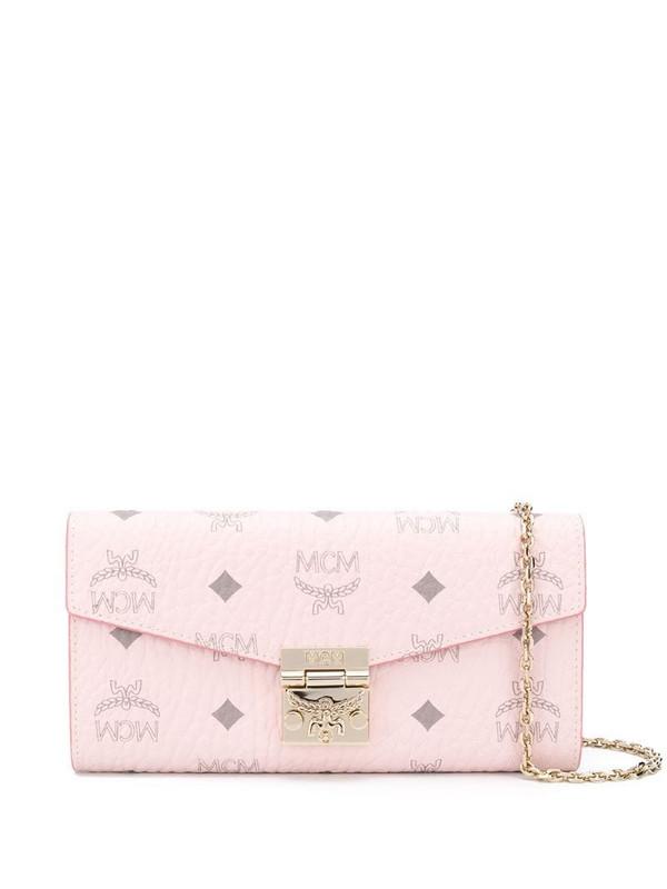 MCM Patricia crossbody wallet in pink