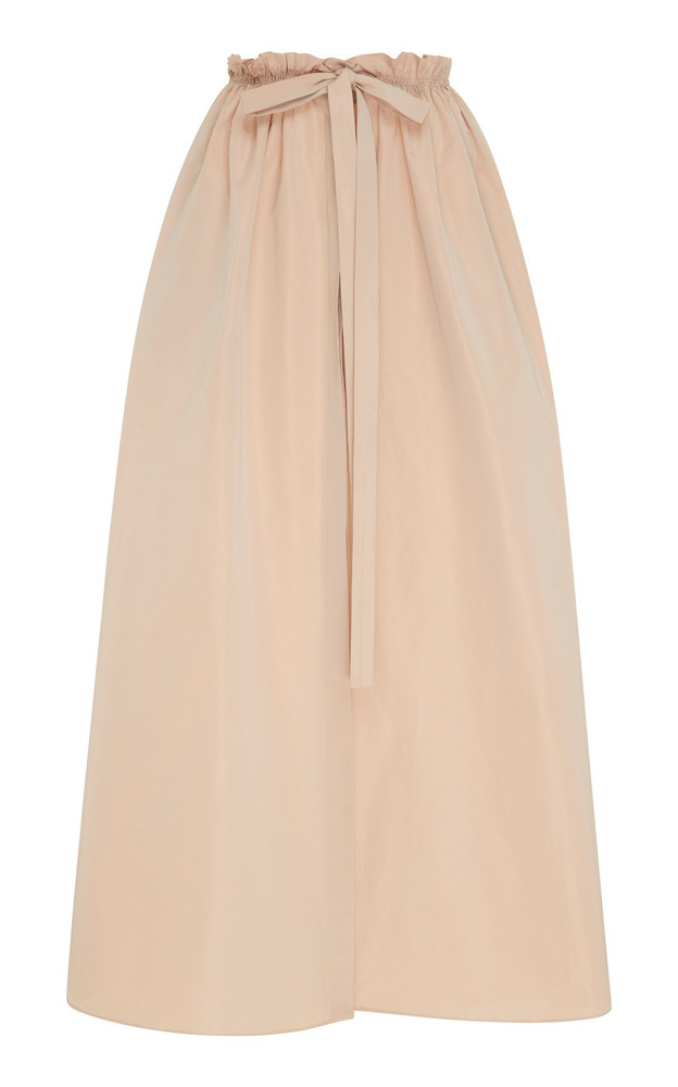 Givenchy Pleated Cotton-Blend Maxi Skirt in neutral