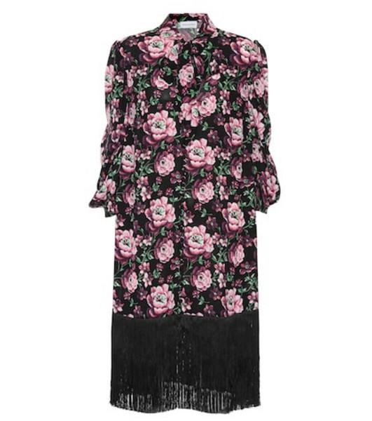 Magda Butrym Gaza fringed silk dress in black
