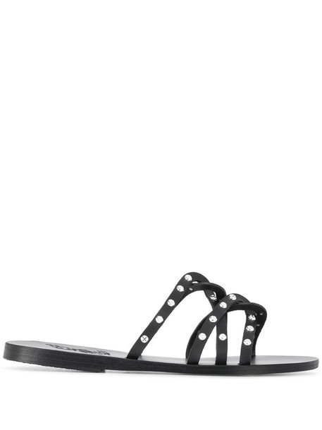 Ancient Greek Sandals studded strappy sandals in black