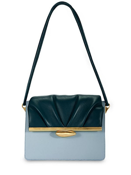 REIKE NEN Pebble Midle Bicolor Leather Bag in blue / green