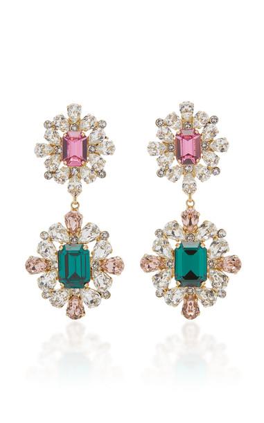Dolce & Gabbana Gold-Tone Crystal Clip Earrings