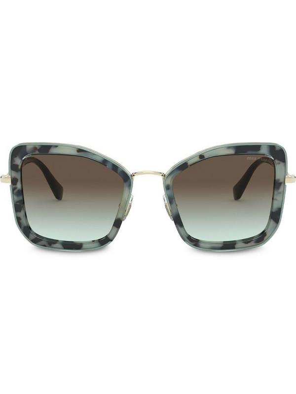 Miu Miu Eyewear Délice cat-eye sunglasses in blue