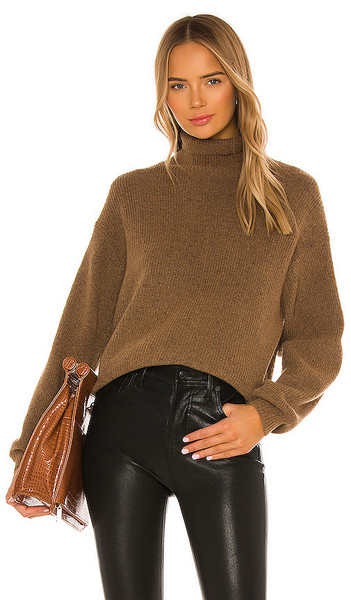 L'Academie Cashew Pullover in Brown in tan